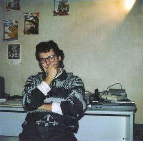 """Carlo in posa """"impegnata""""… foto utilizzata poi per la faccina di Zzap!"""