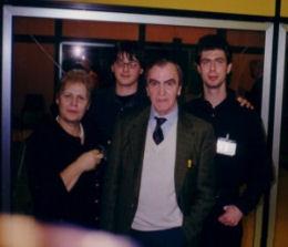 È il 1999 o giù di lì. Assieme a Rodolfo Rolando e Paolo Besser (dietro), ci sono niente meno che Carlo Rambaldi (il creatore di ET) e consorte